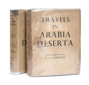 Charles Doughty And039travels In Arabia Deserta Vol 1 And 2and039 Cape 1st Ed W Dj 1936