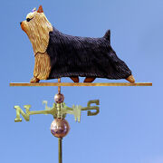 Yorkshire Terrier Hand Carved Hand Painted Basswood Dog Weathervane