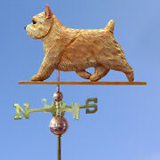 Norwich Terrier Hand Carved Hand Painted Basswood Dog Weathervane Wheaten