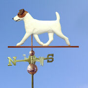Jack Russell Terrier Hand Carved Hand Painted Basswood Dog Weathervane Brown/...