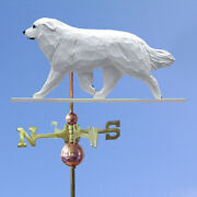 Great Pyrenees Hand Carved Hand Painted Basswood Dog Weathervane