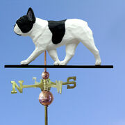 French Bulldog Hand Carved Hand Painted Basswood Dog Weathervane Pied