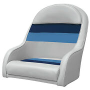 Pontoon Bucket Seat Fishing Boat Chair Molded Frame Mounting Plate Vinyl Cushion