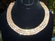 Qvc Dressy Sparkly Crystal Party Choker Necklace Estate Jewelry New In Box