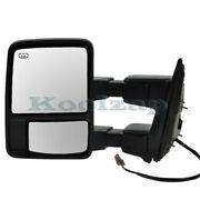 F-series Truck Sd Tow Mirror Power Heated Manual Telescopic W/signal Driver Side