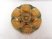 French Majolica Oyster Plate By Sarreguemines / Utzschneider And Co.