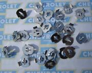1936-1990 Chevrolet And Truck Molding Emblem Ornament Mounting Clips. 25 Pack