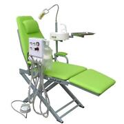 Portable Mobile Dental Folding Chair With Turbine Unit + Led Surgical Light Lamp