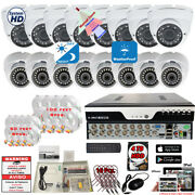 16 Channel Complete Security Camera System Outdoor Day Night Vision With 4tb Hdd