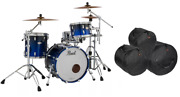Pearl Reference Shell Pack Ultra Blue Fade 20x14 12x8 14x14 Drums Free Bags/ship