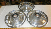 Three Vintage Chevy Ss Hubcaps 14 Inch Vintage 1960,s