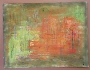 Original 1975 Abstract By Stuyvesant Van Veen Painting Spring Nyc Central Park