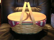 Longaberger 2004 Get Together Basket Combo With Lid And Insert / Mint And Signed