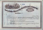 Iowa Falls And Sioux City Railroad Company Stock Certificate Illinois Central Ic