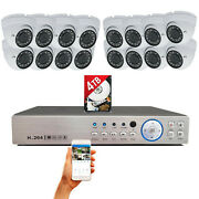 16 Channel Hd Cctv Security Camera System Set Day Night Vision Outdoor With 4tb