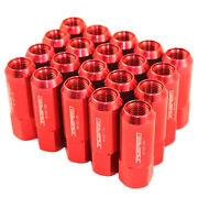 M14x1.5mm Aluminum Tuner Racing Jdmspeed Extended Forged 60mm Lug Nuts 20pc Red