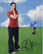 Sarah Silverman Signed Autographed W/ Duck The Dog Photo