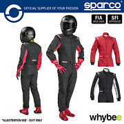 New 001091 Sparco Sprint Rs-2.1 Race Suit Entry Level Fireproof Fia Approved