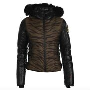 Rossignol Clemence Ladies Down Jacket Coat With Fur Green Black All Sizes