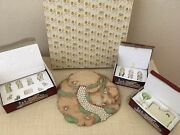 Precious Moments Christmas Vintage Base Including Figurines