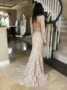 640 Nwt Two Piece Jovani Prom/pageant/formal/wedding Dress/gown 26335 Size 2