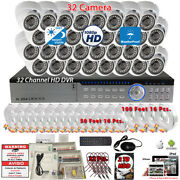 32 Channel H264 Hd Dvr 32x Hd Night Vision Cctv Security Dome Camera System 2tb