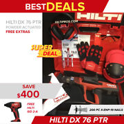 Hilti Dx 76 Ptr Powder Actuated Tool New Free Gloves Extras Fast Ship