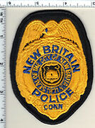 New Britain Police Connecticut Shirt/jacket Patch - New From 1982