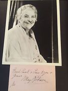 Signed May Robson 1931 4x6 Cut With Vintage 1930and039s Photo Uacc Registered Dealer