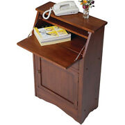 Wooden Secretary Desk Drawer Cabinet Writing Home Office Table Storage Wood 38in