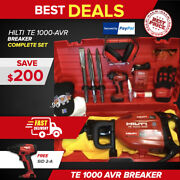 Hilti Te 1000 Avr Preowned Free Sfd 2-a Chisels Extras Fast Ship