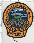 Belle Glade Police Florida Shoulder Patch - New From 1992