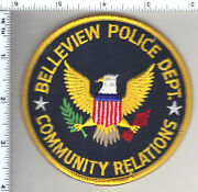 Belleview Police Florida Community Relations Shoulder Patch - New From 1992