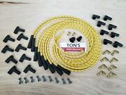 8mm Universal Cloth Covered Spark Plug Wire Kit Set Vintage Wires Inline 6 8 Yl