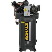 Schulz V-series Single Phase 7.5-hp 80-gallon Two-stage Air Compressor 1 Ph