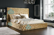 Florida 5ft Kingsize Chesterfield Bed With Headboard Various Colours And Fabrics