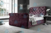 Arizona 6ft Super King Chesterfield Sleigh Bed In Various Colours And Fabrics