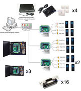 Rj45 16 Doors Access And Security Systems And Heavy Duty Electric Door Strike Lock