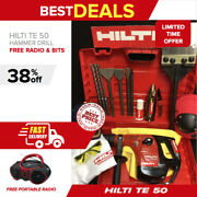 Hilti Te 50 Hammer Preowned Free Radio Chisels A Lot Of Extras Quick Ship