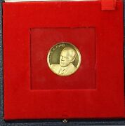 1974 Gerald Ford Official Inaugural 18 Karat Gold Proof Medal In Box With Coa