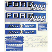 New Ford 2000 Select-o-speed Gas Complete Decal Set