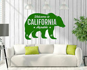 Wall Vinyl Decal Sign Greeting Welcome To California Republic Decor Z4796