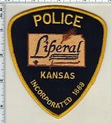 Liberal Police Kansas Shoulder Patch - New Style From 1992