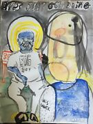 Ethan B. Big Boy Gauche On Watercolor Paper 18 In X 24 In