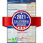 2021 California State And Federal Labor Laws Poster - Osha Compliant - Laminated