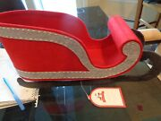 Pottery Barn Kids Red Felt Sleigh Tabletop Center Piece New With Tag