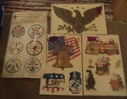 Vintage Lot Meyercord Decals Eagle Liberty Bell General Store 1534a 1535b X547a