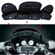 Motorcycles Windshield Saddle Pouch 3 Pocket Bag Fit Harley Electra Street Glide