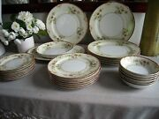 Kongo - Dudley Pattern Dining Set 4 Pc Place Setting - Dinner For 6 - 24 Pc Lot