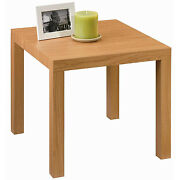 Modern Square End Table Sofa Side Plant Lamp Stand Living Room Natural Furniture